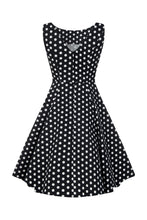 Indlæs billede til gallerivisning Hepburn polka dot doll dress black/white