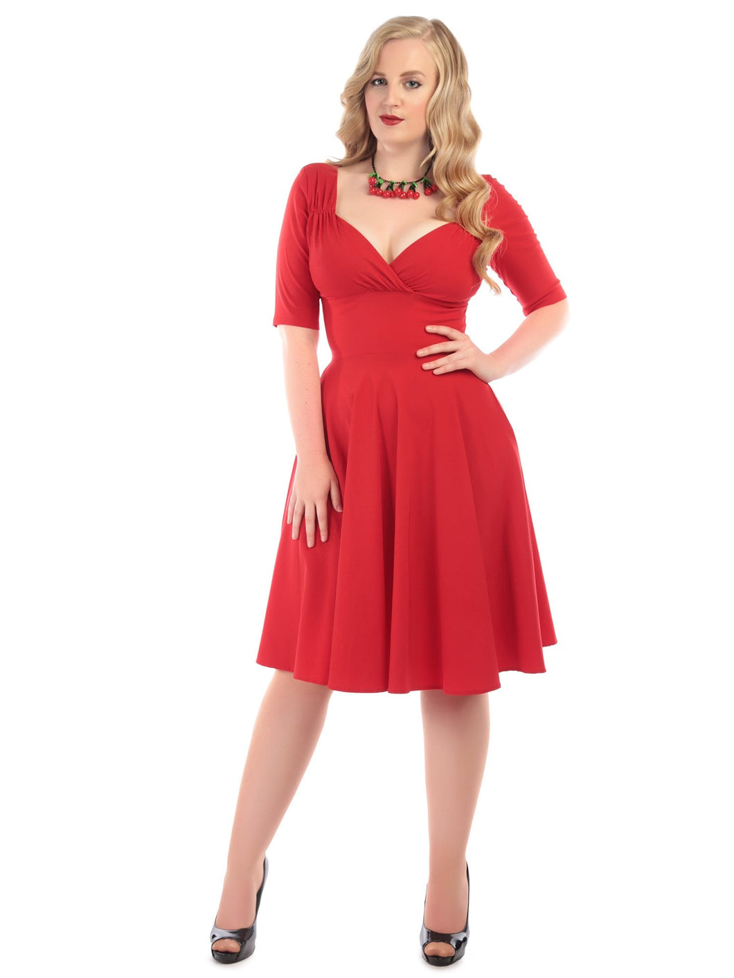 Trixie Doll dress -red