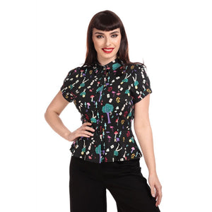 Mary grace wonderland blouse multi coloured