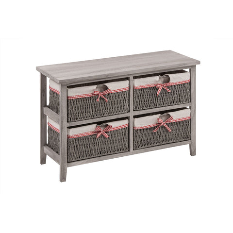 4 Storage Baskets Grey - Smart Furniture London