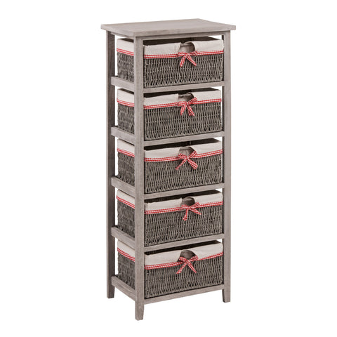 5 Storage Baskets Grey - Smart Furniture London