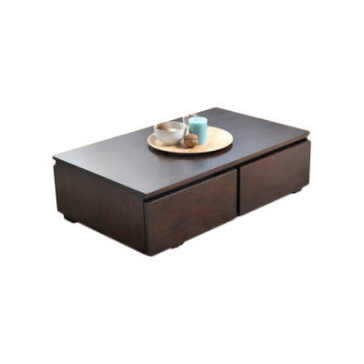 Elegant Mahogany Storage Coffee Table with 4 Drawers - Smart Furniture London