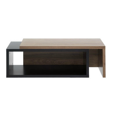 Rectangular Sliding Top Extending Coffee Table in Walnut/Black - Smart Furniture London