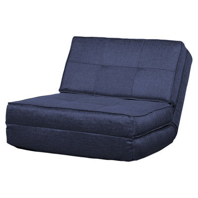 Blue Fabric 1 Seater Clic-Clac Fold-Out Chair Bed - Smart Furniture London