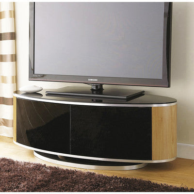 Kitchen base cabinets oak - Medium Size High Gloss Black Oak Rotating Tv Cabinet Up To 50 Quot