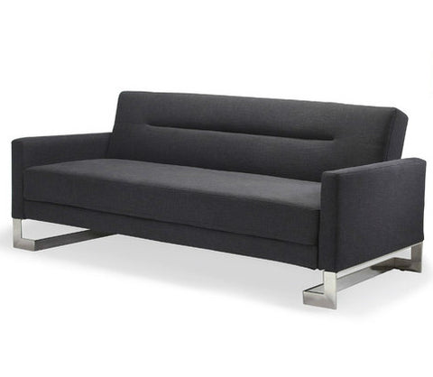 Charcoal Modern 3 Seater Clic-Clac Sofa Bed - Smart Furniture London