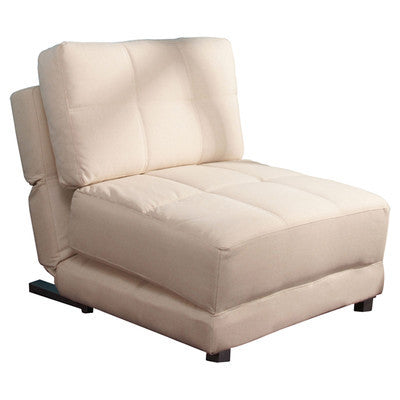 Beige Fabric 1 Seater Clic-Clac Chair Bed - Smart Furniture London