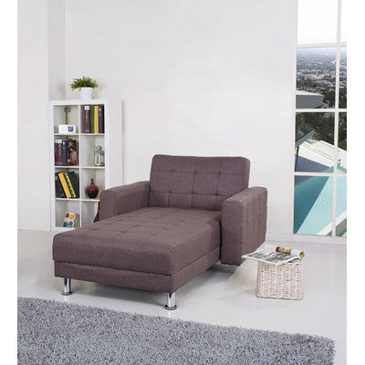 4 Seater Chocolate Brown Fabric Clic-Clac Corner Sofa Bed (2 Bed Optio