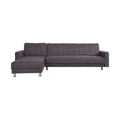 4 Seater Molasses Fabric Clic-Clac Corner Sofa Bed (2 Bed Option) - Smart Furniture London