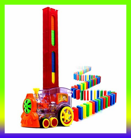 AUTOMATIC Domino Laying Brick TOY Train Car