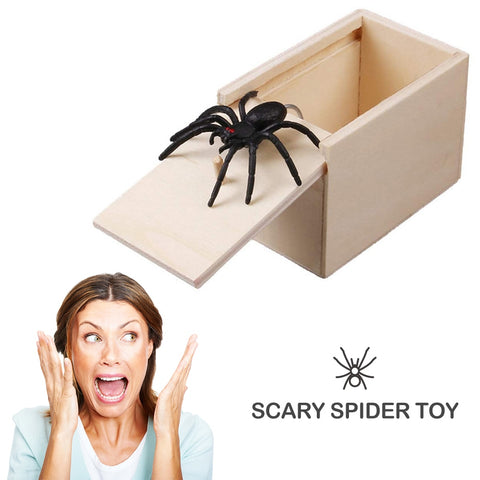 Spider wooden prank box