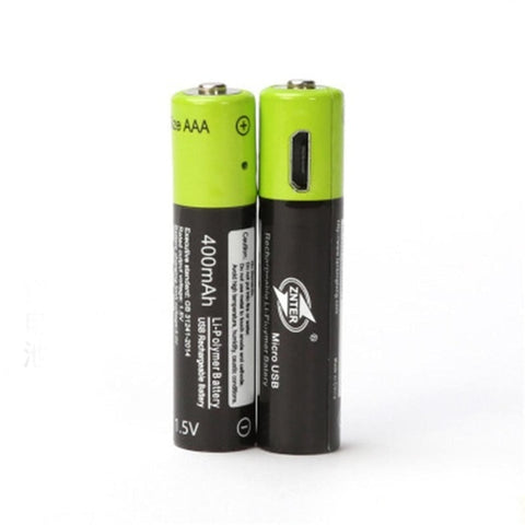 600mah Mirco USB 1.5v AAA Rechargeable Lithium Polymer Battery with Charging Cable
