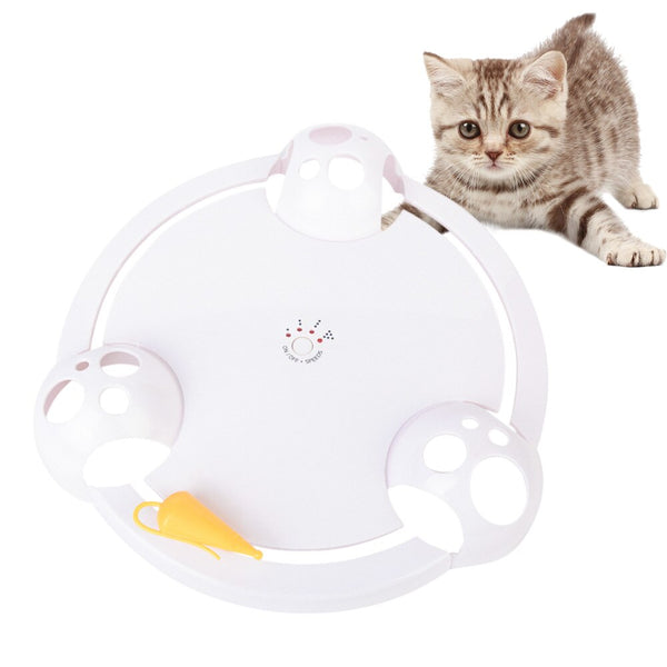 Interactive Hide Seek Mouse Hunting Cat Toy