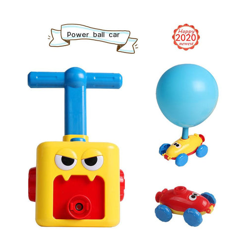 Inertial Power Ball Car Balloon Pump Hand Push Inflator Air Pump Power Science Experiment Toy