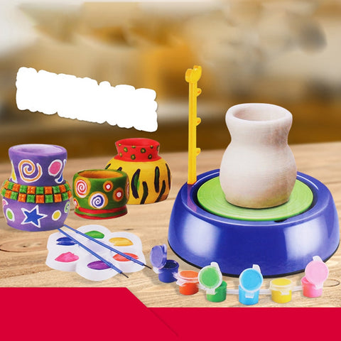 DIY Toys Pottery Wheel Kids Educational Portable Ceramic Machine