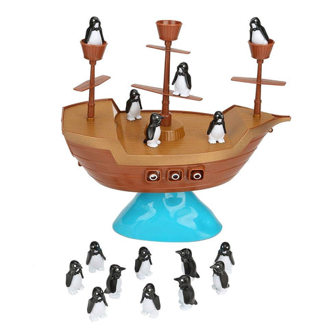 Pirate Boat Penguin Board Balancing Game