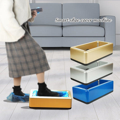 Shoe Cover Dispenser Automatic Shoes Cover Machine with 100pcs Disposable Plastic Boot & Shoe Cover