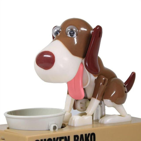 Robotic Hungry Eating Dog Coin Bank
