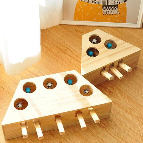 Indoor Solid Wooden Cat Hunting Toy