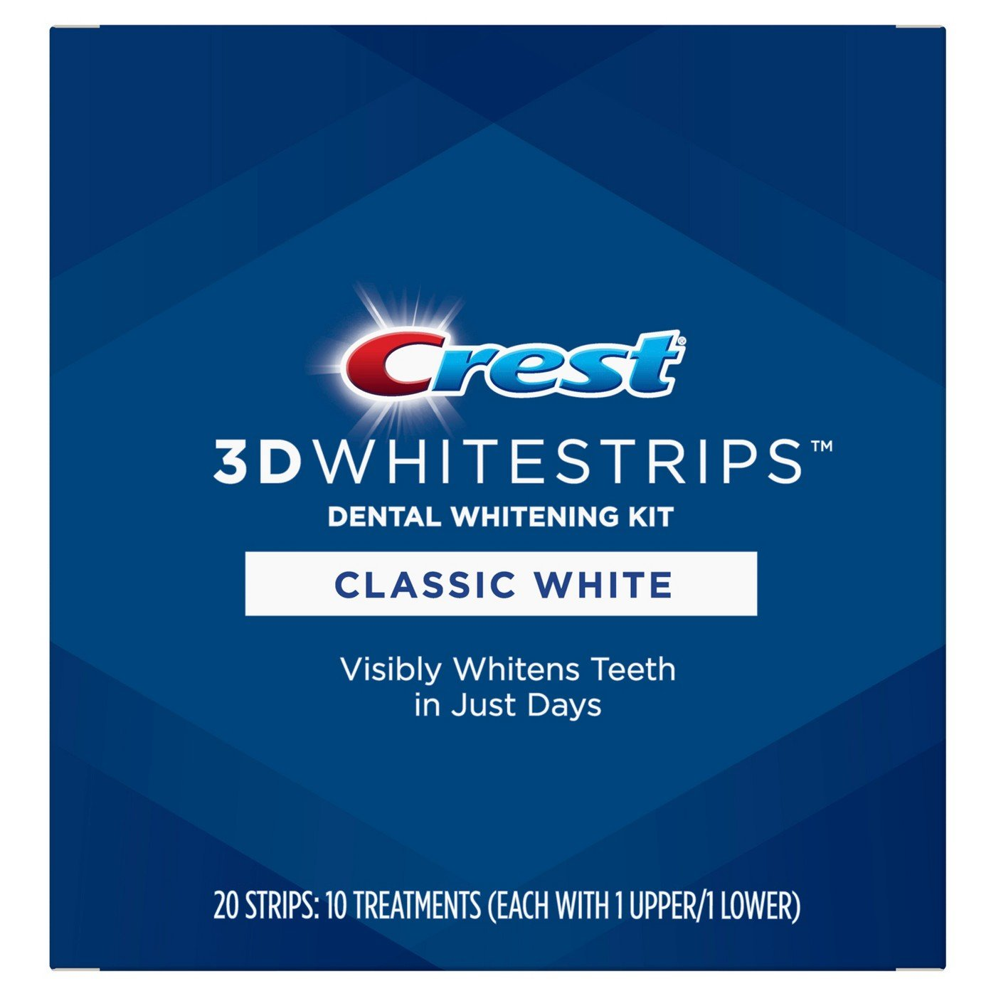 NEW Crest Classic White 3D Whitestrips (Medium)