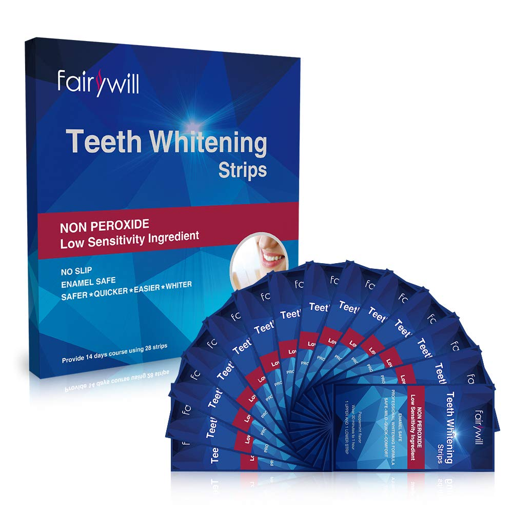 FairyWill NON PEROXIDE TEETH WHITENING STRIPS