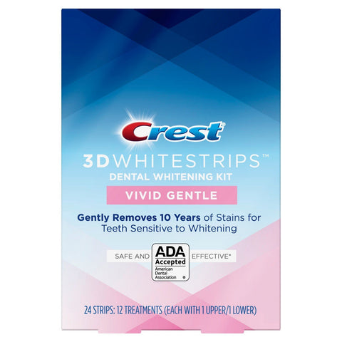 NEW Crest Vivid Gentle 3D Whitestrips (Mild)