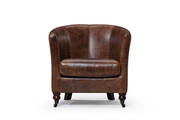 The Alcove leather armchair