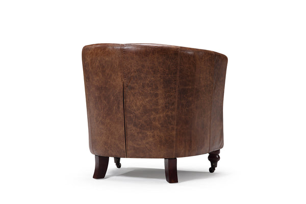 Back of the Alcove leather chair
