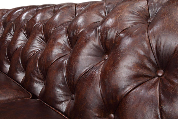 Backrest of the Chelsea Tufted Leather Sofa