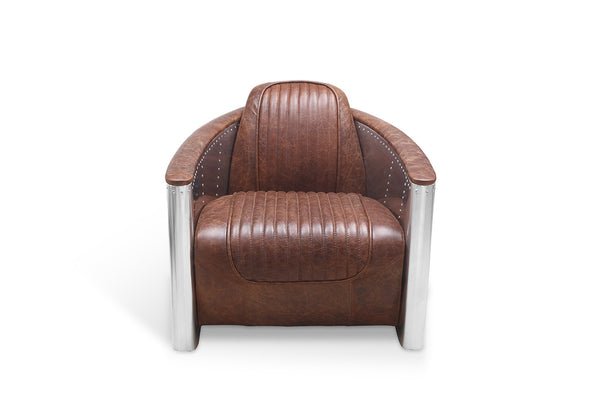 Aviator Leather Chair front view