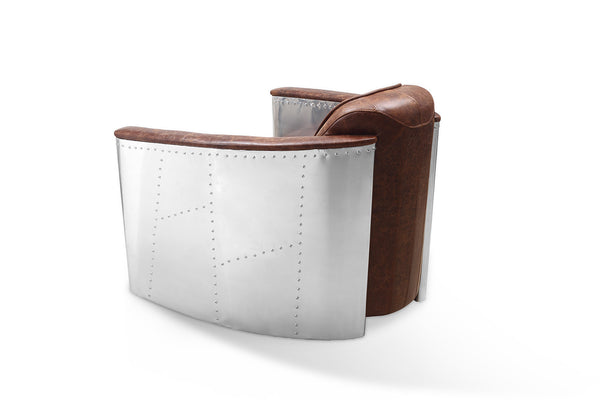 Aviator Leather Chair back profile