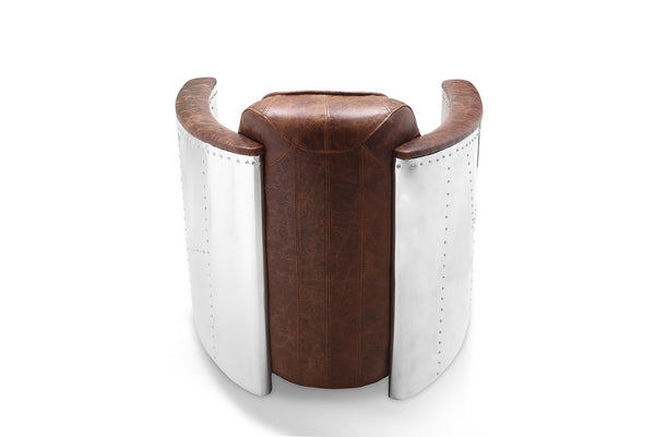 Aviator Leather Chair back view