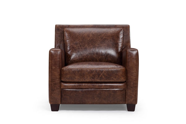 Belgian leather armchair