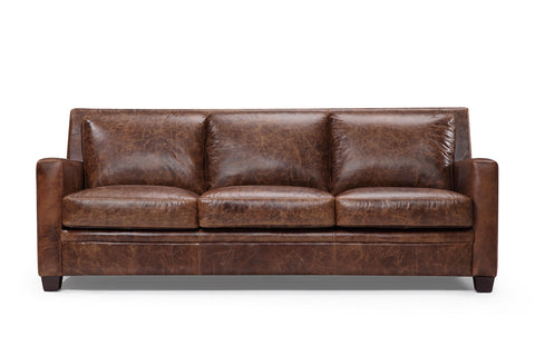 Belgian leather sofa