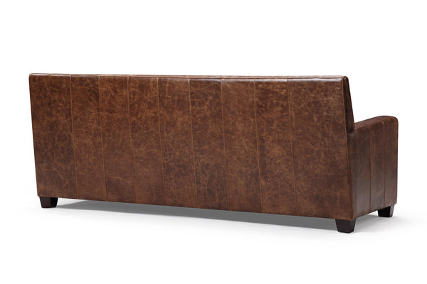Back of the Belgian leather sofa