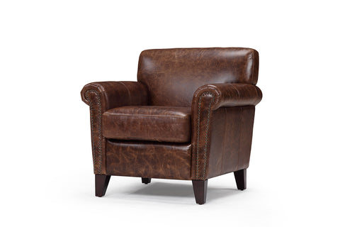 The Sheffield armchair in vintage leather