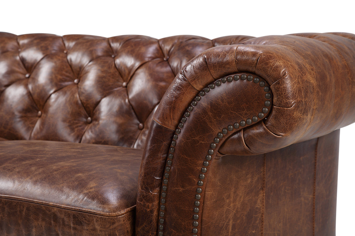 The westminster chesterfield leather sofa rose and moore - Canape chesterfield vintage ...
