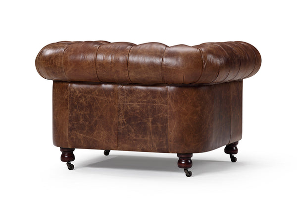 Back of the Kensington Chesterfield Leather Chair