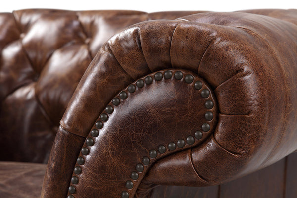 Armrest of the Westminster Chesterfield Chair by Rose & Moore