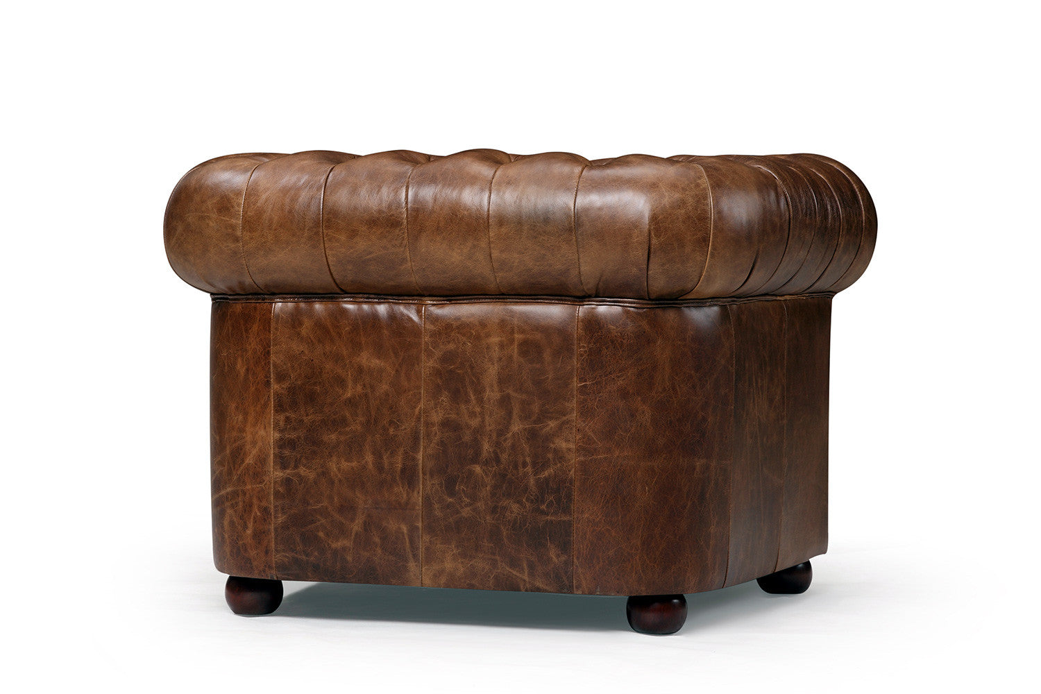 Captivating Back Of The Original Tufted Leather Chair