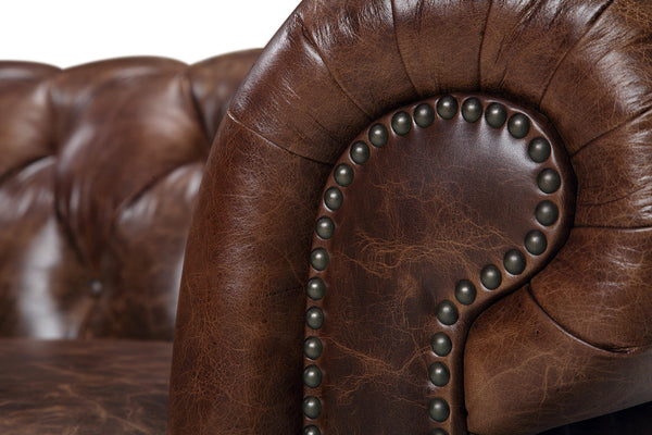 Armrest of the Kensington Chesterfield Loveseat