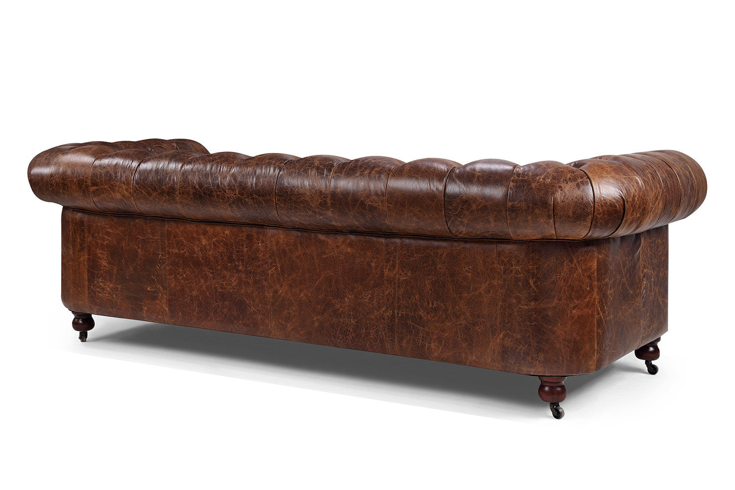 Back Of The Kensington Chesterfield Leather Sofa By Rose U0026 Moore