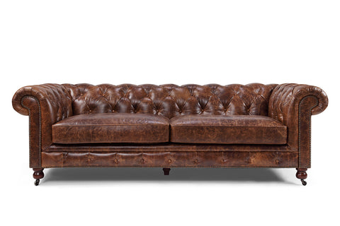 Kensington Chesterfield Leather Sofa by Rose & Moore RM-126