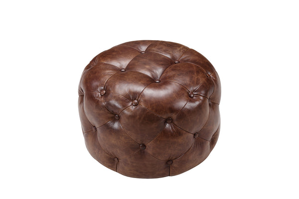 Small Chesterfield Pouf