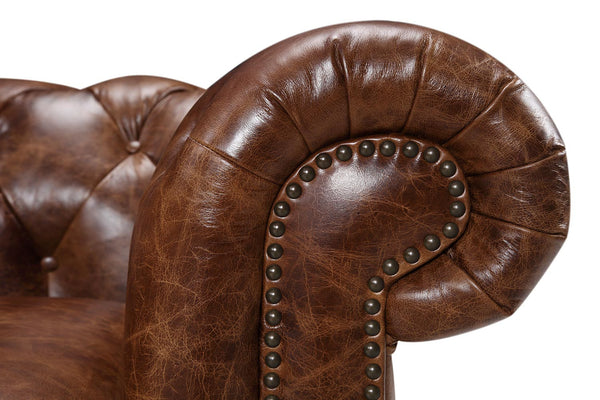 Armrest of the Kensington Large Chesterfield Sofa