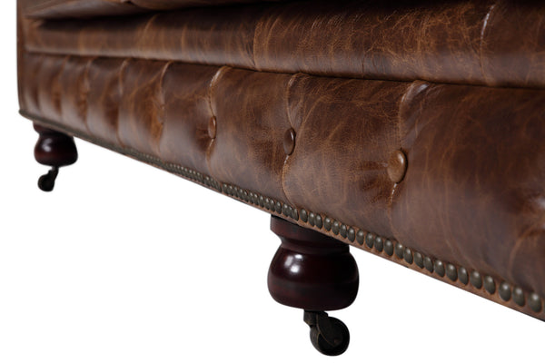 Feet of the Kensington Large Chesterfield Sofa