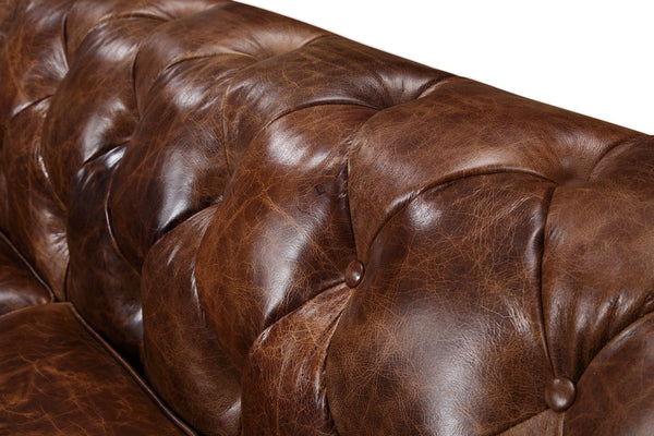 Tufts of the Kensington Large Chesterfield Sofa