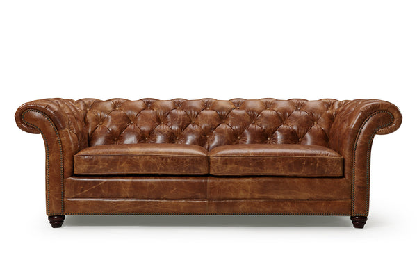 Westminster Chesterfield Leather Couch RM-124