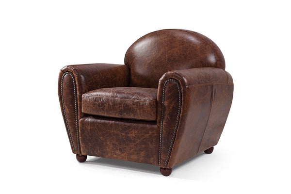 Leather Club ArmChair by Rose & Moore