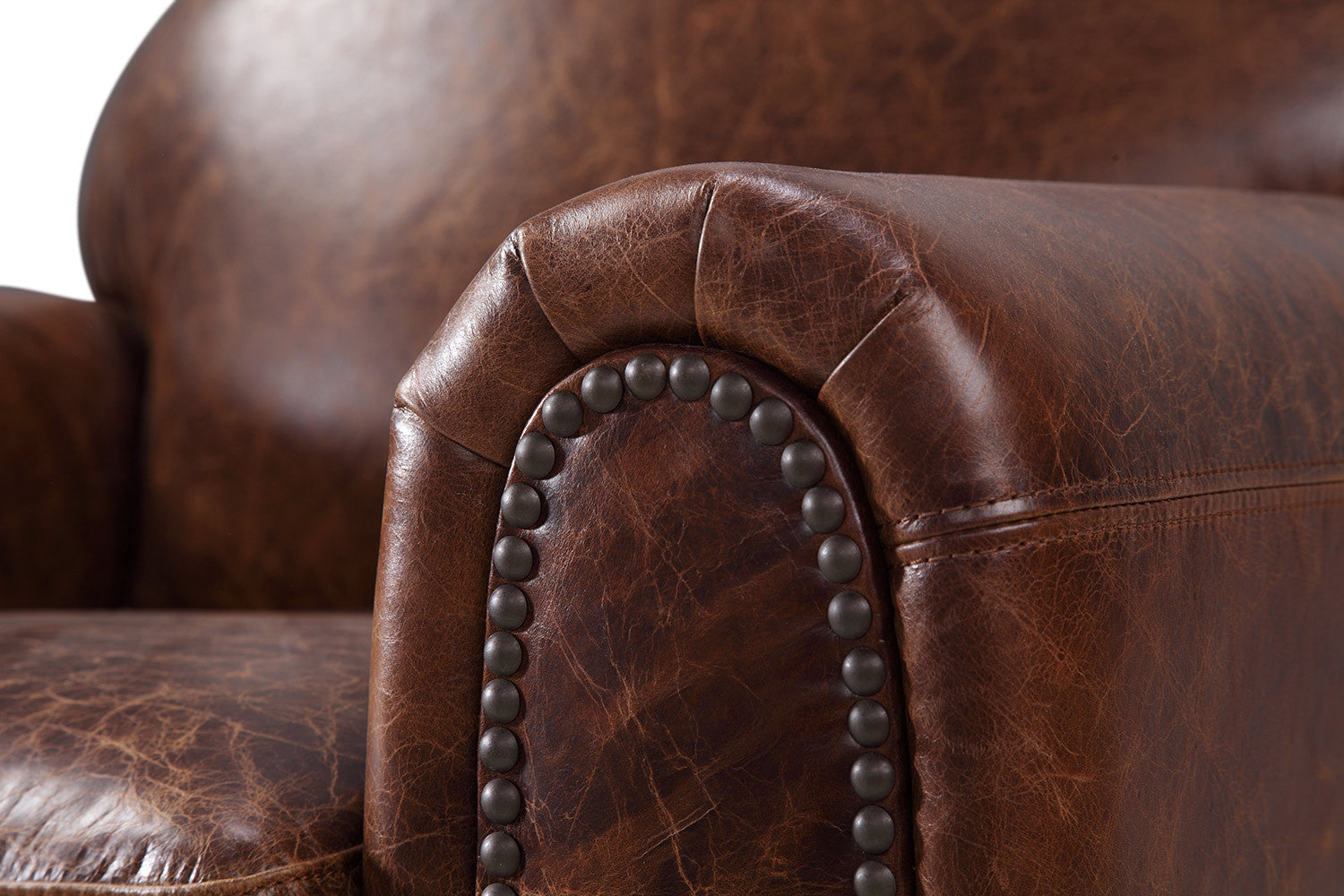 Armrest If The Leather Club Chair By Rose U0026 Moore